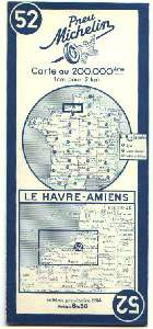 Cartes Michelins 1944 2 couleurs